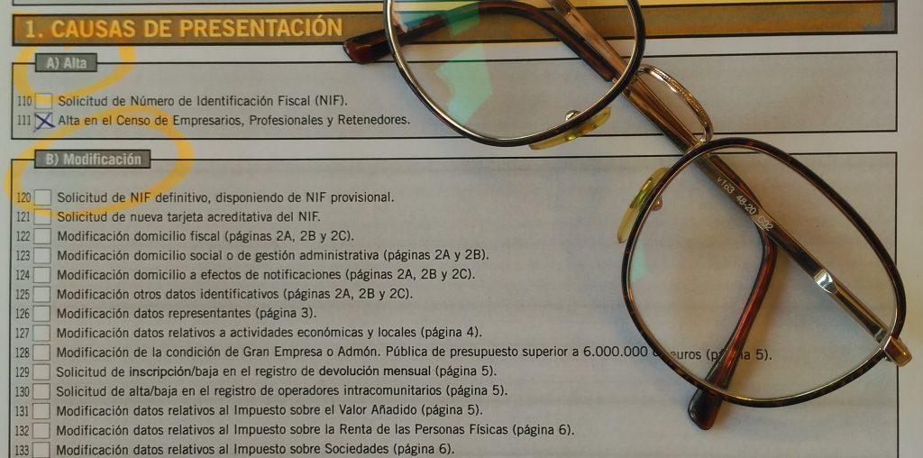 modelo 036 planilla lentes