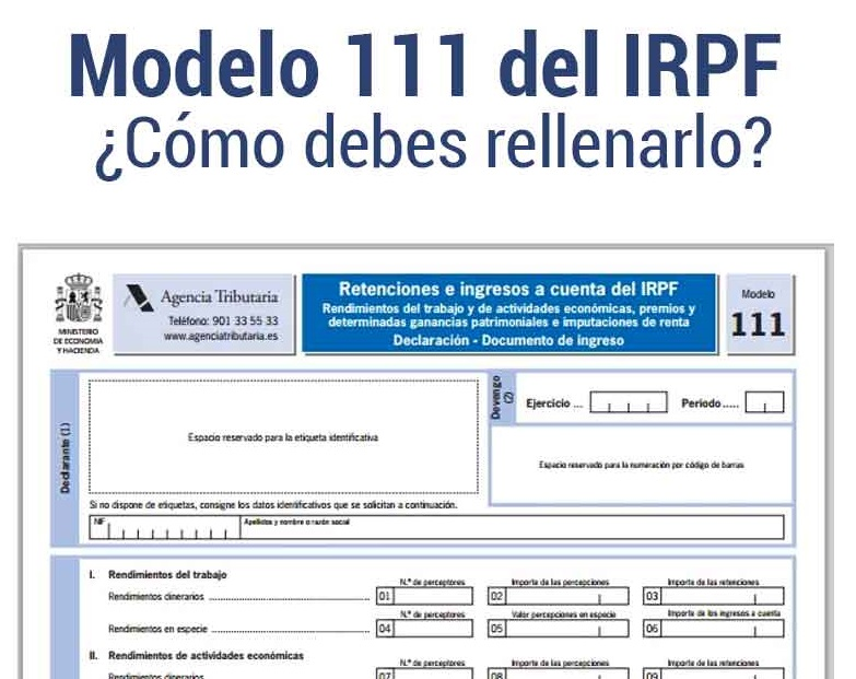 modelo 111 cómo rellenar