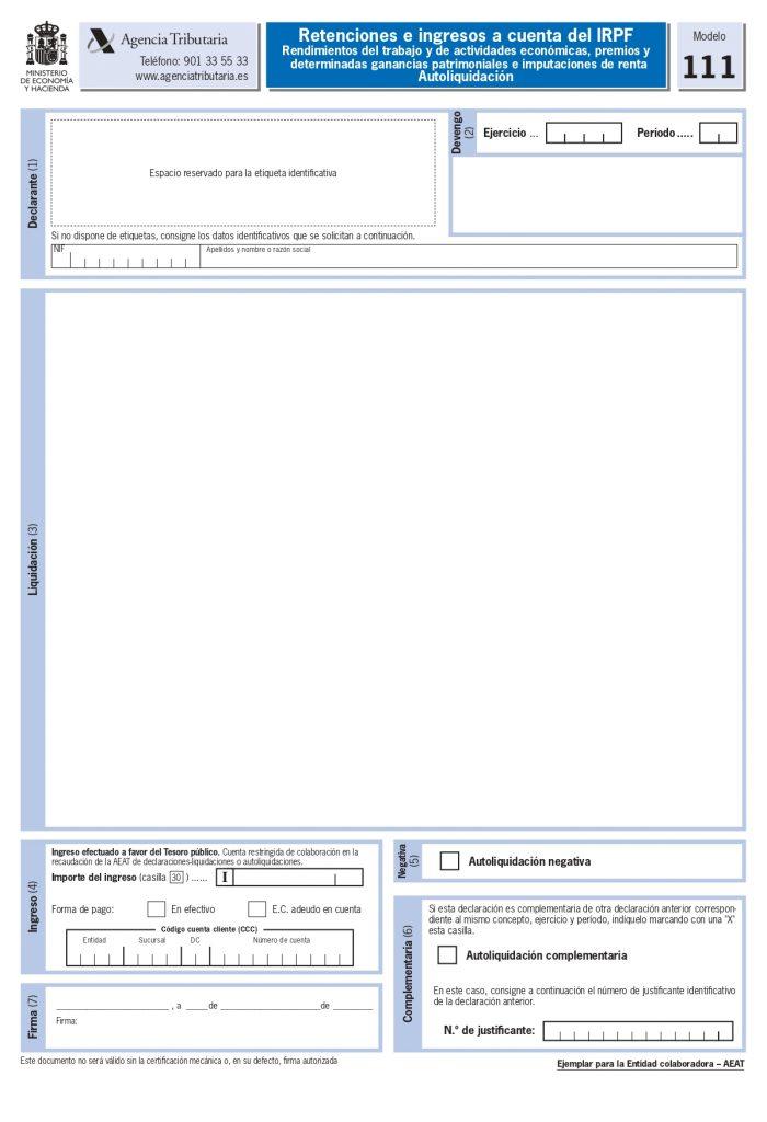 modelo 111 página