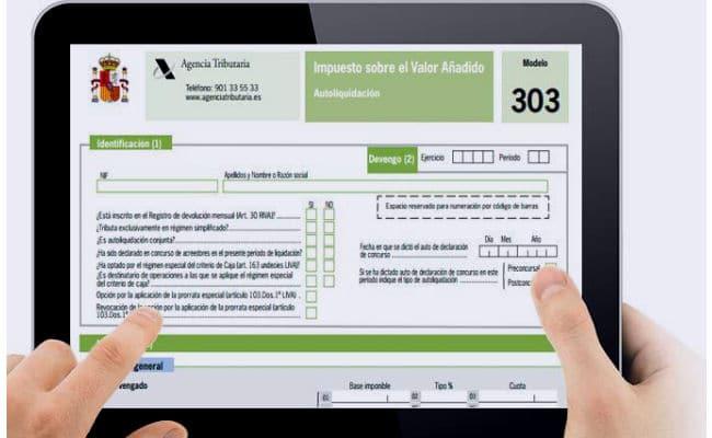 modelo 303 tablet