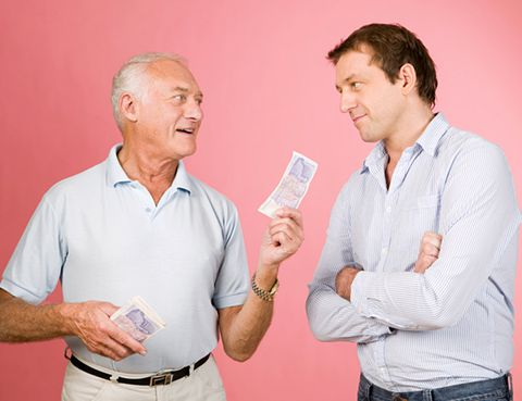 préstamo dinero familiares modelo 600 padre e hijo