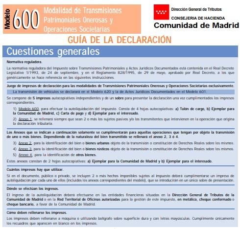 modelo 600 guía